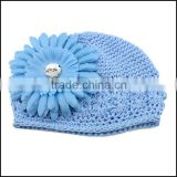 New 2014 Autumn Winter Organic Cotton Baby Beanie Hats With Striped Bear Ears For Newborn