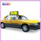 P6 outdoor full color double sided led taxi top advertising/taxi roof top advertising signs