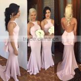 (MY2661) MARRY YOU Pink Satin Halter Backless Bridesmaid Dress Patterns