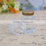 Wholesale Transparent Storage Jar Air Tight Jar Of Jam Pot Food Pickles Six Arrises Glass Bottles Of Honey