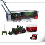 1:28 6ch rc tractor trailer trucks for sale RC Farm Tractor with good quality and license
