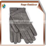Newest SHENZHEN Long Grey Driving Lambskin Hand Stiched Lined Women Cashmere Gloves For Women