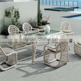 Evergreen Wicker Furniture - Outdoor Bamboo Furniture - Wicker Dining Set