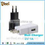 1A/2A AC USB Power Wall Charger Adapter Travel EU/US Plug For Samsung for iPhone for HTC