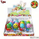 Moving egg surprise candy toy