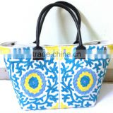 New designs Fashionable Suzani Embroidery Bag Tote Shoppers bag