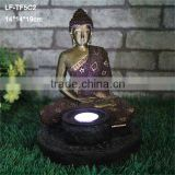 Resin crafts solar buddha statues garden lighting wholesale