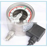 with Temperature compensation AC 380V sf6 density meter pressure meter pressure gauge with electric contact