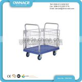 Warehouse Foldable Wire Mesh Roll Cage Trolley Hand Cart