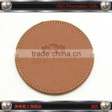 Promotional Gifts Embossed Blank Faux Leather Coaster