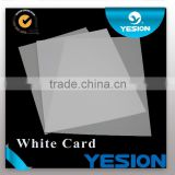 NEW ARRIVALS ! High quality Double side Non-laminated pvc card material business card material 86*54mm