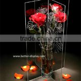 wholesale clear acrylic flower vase insert