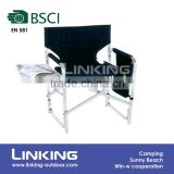 aluminum deck chair with plate and magazine bag