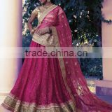 Sacral Dark Magenta Brasso Lehenga Choli/fancy lehenga choli/Lehenga Choli Wholesaler In India