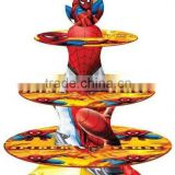 SPIDERMAN Cake Cupcake Tree Stand Party Birthday Decoration Kit Set Holds 24 Cupcakes Party Supplies