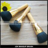Grooming vegan bamboo finishing powder makeup brush ultra soft hair cosmetic powder brush