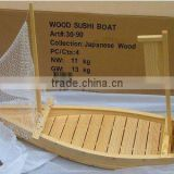 High Quality Customized Bamboo/wooden Japanese Sushi Boat