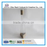 Different Shapes Tall Clear Glass Vases with Rope for Single Flower