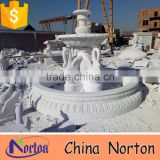 big garden white marble swan water fountain NTMF-S507S