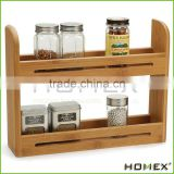 Bamboo Spice Rack Spice Bottle Shelf Homex BSCI/Factory