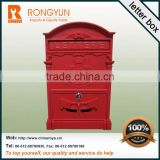 Hot group letter box with lock and stainless steel letter box
