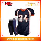 Hongen apparel New design custom american football jersey sublimated football uniform