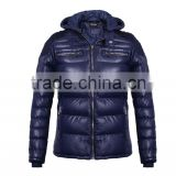 2016 COUTUDI Pakistan stylish sexy soft Pu pure men hoody models navy leather jacket
