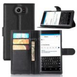 Leather case for blackberry priv with card slot with holder with wallet