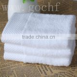 white diamond banded facecloth flannel face towel