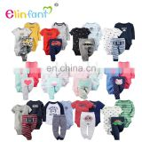 Elinfant New baby romper cotton pattern fashion kids clothing set for infant wholesale baby clothes baby in stock