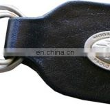 HMB-740F LEATHER FOLDER KEYS HOLDER KEYCHAINS RING STYLE