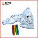 Bear with pillow 3d coloring toy handmade educational toys wholesale