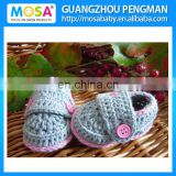 2014 Newborn Baby Shoes ,Knitted Baby Booties Grey Pink Mary Jane for Newborn to Toddler Girls
