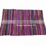 Chindi Carpet Rag Rug Indian Wall Decor Cotton Handmade Woven New 5'x3' Home Floor Decor Runner Mat