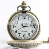 Fashion Retro Bronze Hollow Carved Dolphin Unisex Pocket Watch