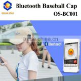 bluetooth wholesale baseball caps/fitted baseball cap/bluetooth baseball cap with earphone