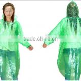 The transparent disposable PVC raincoat for outdoor work