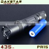 DAKSTAR PR15 CREE XP-G R5 435LM 18650 Police Emergency rechargeable Aluminum LED Flashlight
