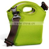 insulated lunch bags for adults, with or without shoulder strap, insulated real neoprene material