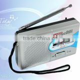 AM/FM radio Logo printing accpetable Japan frequency customized Radio With Built-in Speaker