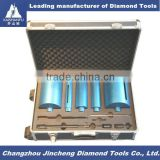 Diamond core drill bits set for limestone
