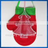Clear Plastic Christmas Tree Shape,Transparent fillable Ornament
