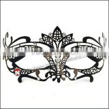 black metal mask Swan Metal Filigree Laser Cut Venetian Masquerade Mask w/ Rhinestones NEW