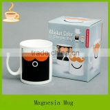 2014 new design color changing mug, wholesale ceramic mugs, heat sensitive mug with color box