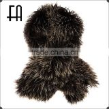 Factory direct wholesale price dyed mongolian lamb fur scarf /mongolian lamb fur wrap