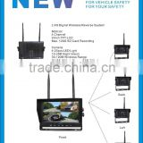 100% Factory CE RoHS 4 Channel TFT LCD Screen 9 Inch 2.4Ghz Wireless Wireless Camera System 12-32V for Trucks