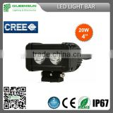 hotsale waterproof cree flood spot combo beam lamp 20w led light bar for trucks, 4x4 offroad, ATV,SUV, BOAT