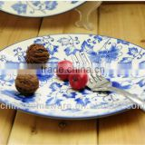 Blue and White Porcelain Plates,Good flat Ceramic plate,Tableware