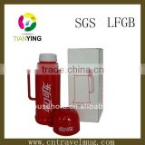 500ml vacuum flasks glass inner with plastic outer