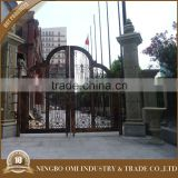 Professional mould design Wrought iron garden door outdoor/courtyard gate iron craft main gate double security gates